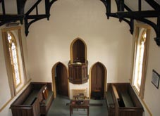 Pulpit from gallery